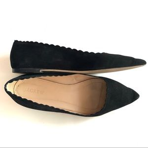 J. Crew Scallop Pointy Toe Flat